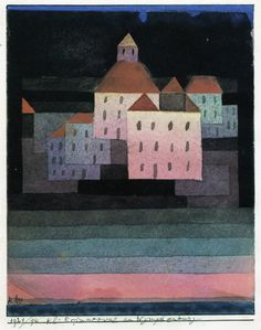 Paul Klee ~ A Little Memory of Nymphenburg, 1921
