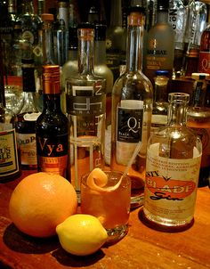 Smoked Negroni    INGREDIENTS:  2 oz Blade Gin  1 oz Vya Sweet Vermouth  1 oz Campari Mix  Black Qi Rinse    GLASSWARE:  Rocks glass, without ice    GARNISH:  Lemon Twist    PREPARATION:  All local negroni, the glass is smoked with a black tea liqueur. The campari aggregate is composed of a sous vide rhubarb, orange and Charbay vodka bitter infusion. Combine gin, vermouth and campari mix in shaker and strain up into glass.    #drinks #recipes #diy #bar