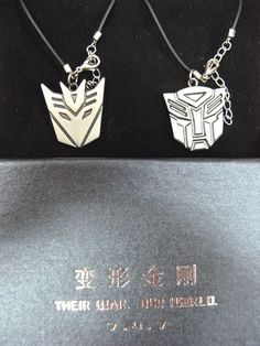 Transformers Necklaces