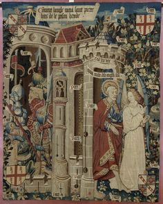 Liberation of Saint Peter / La Délivrance de Saint Pierre // Tournai, 3rd quarter of the 15th century // Cathédrale Saint-Pierre de Beauvais // Musée de Cluny // #tapestry