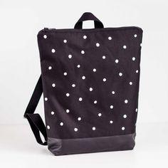 Black Backpack - Winter Snow