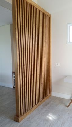 Living Room Partition Design, Room Partition Designs, Wood Slat Wall, Wood Slats, Home Room Design, Home Interior Design, House Design, Apartment Interior, Apartment Design