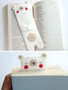 Милая закладка для книг из фетра