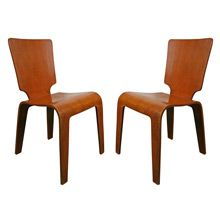 New to Rejuvenation Restored Antiques & Vintage Finds: Pair of Thaden-Jordan Molded Plywood Side Chairs C1947