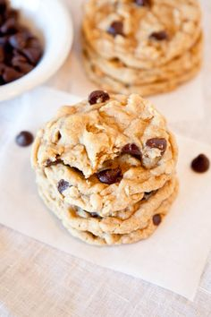 Chocolate chip Peanut Butter Oatmeal Cookies Trifecta!!