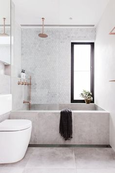 'Minimal Interior Design Inspiration' is a weekly showcase of some of the most perfectly minimal interior design examples that we've found around the web - all Bad Inspiration, Interior Design Inspiration, Bathroom Inspiration, Design Ideas, Bathroom Inspo, Design Blogs, Design Trends, Bathroom Tile Designs, Bathroom Interior Design
