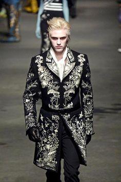 Alexander McQueen embroidered jacket
