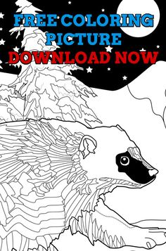 Free Adult Coloring Book Page Amazing New World Animals