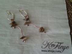 Kfleye wood and mix metal earrings
