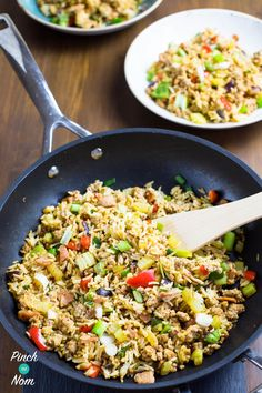Recipe Rice Slimming World 41 New Ideas Slimming World Dinners, Slimming World Recipes Syn Free, Slimming World Syns, Tasty Fried Rice, Spicy Rice, Rice Recipes, Cooking Recipes, Recipies, Vegetable Recipes