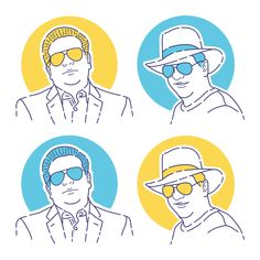 Fiverr freelancer will provide Portraits & Caricatures services and draw minimalist flat line avatar for you including Figures within 3 days Illustration Styles, Simple Illustration, Portrait Illustration, Illustrations, Tuxedo Man, Cowboy Suit, Drug Packaging, Skin Palette, Gift Drawing