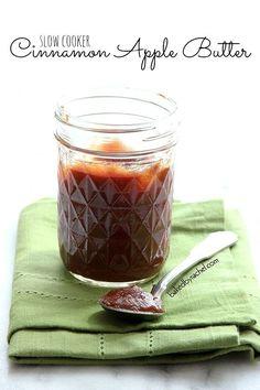 Slow Cooker Cinnamon Apple Butter Recipe by bakedbyrachel.com