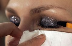 How to apply glitter eyeshadow. See source as it is a cool site for make up how to's!