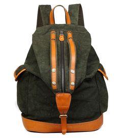 Tom Clovers Men's Women's Canvas Backpack Hiking Camping Bag Weekender Bag -- A special outdoor item just for you. Men's Backpacks, Vintage Backpacks, Canvas Backpacks, Mens Satchel, Mens Travel Bag, Travel Bags, Shoulder Bags For School, Canvas Shoulder Bag, Backpack Bags