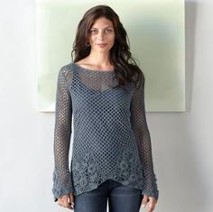 crocheted villandry sweater (from the sundance catalog)