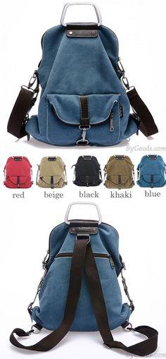 Fashion Multi-function Canvas Shoulder Bag & Backpack for big sale! #fashion #cavnas #multi-function #school #Backpack #Bag #college #rucksack #fashion #travel #cute