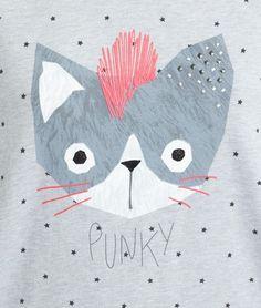 T-shirt imprimé chat - PUNKY - GRIS - Etam