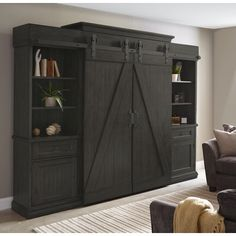 Gracie Oaks Viviane Solid Wood Entertainment Center for TVs up to 60 inches Wine Storage, Tall Cabinet Storage, Linen Cabinet, Locker Storage, Rack Industrial, Industrial Furniture, Industrial Apartment, Industrial Closet, Industrial Bookshelf