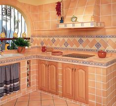 Sweet home : Hubased köögid. Hacienda Kitchen, Rustic Kitchen, Country Kitchen, Kitchen Decor, Kitchen Design, Kitchen Modern, Mexican Style Homes, Mexican Style Kitchens, Classical Kitchen