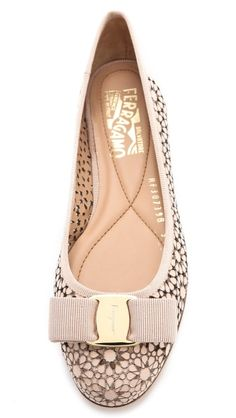 Salvatore Ferragamo Shelly Laser Cut Ballet Flats