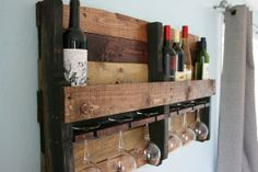 Rustic Wine Rack. $125.00, via Etsy..