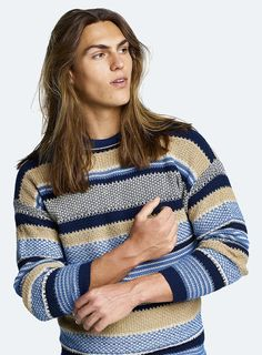 #Benetton #SS17 #collection #trend #fashion #man #knitwear #stripes