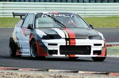 my racing honda crx vtec