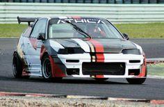 my racing honda crx vtec