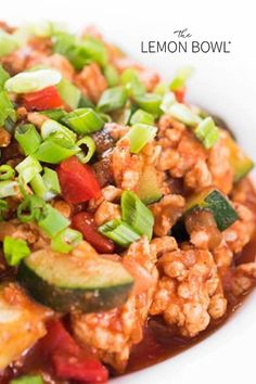 A fast and healthy weeknight dinner recipe, ground turkey is sauteed with seasonal vegetables and simmered in a fragrant Indian spiced tomato sauce. Easy Turkey Recipes, Gluten Free Recipes For Dinner, Dinner Recipes, Healthy Recipes, Lemon Bowl, Healthy Weeknight Dinners, Turkey Dishes, Vegetable Seasoning, Ground Turkey