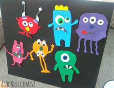 """Mix and Match Monsters on the felt board …perfect with the book """"If you're a Monster and You Know it"""""""