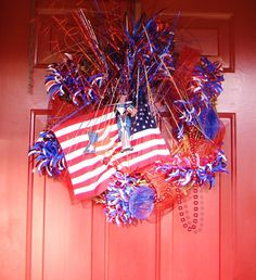 Pinterest Fourth of July | 4th of July wreath