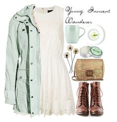 A fashion look from November 2013 featuring scalloped dress, green coat and lace up shoes. Browse and shop related looks. Look Fashion, Teen Fashion, Fashion Outfits, Spring Fashion, Fashion Tips, Outfit Vintage, Vintage Dress, Dress Outfits, Casual Outfits