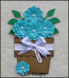 Handmade Flower Pot Shape Card