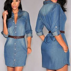 Ladies denim dress uk
