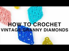 Left Hand: Diamond Granny Square Pattern - YouTube