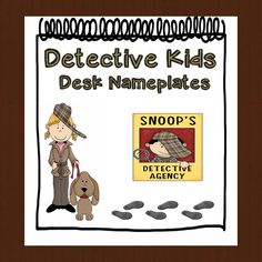 """Could the """"Snoop's Detective Agency"""" be swapped out for camp name / name tag? Detective Theme, Detective Agency, Preschool Classroom, Classroom Themes, Kindergarten, Mission Impossible Theme, Book Cafe, School Themes, Childhood Education"""