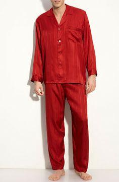 Majestic International Herringbone Stripe Silk Pajamas e5738b92f
