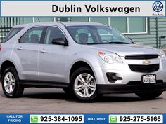 2012 Chevrolet Chevy Equinox LS  69k miles Call for Price 69652 miles 925-384-1095 Transmission: Automatic  #Chevrolet #Equinox #used #cars #DublinVolkswagen #Dublin #CA #tapcars