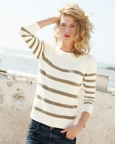 I have my boy dress in something like this when he hangs out with his friends. About the most masculine he's allowed these days. Textured Boatneck Sweater