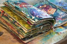 Donna Downey lots of beautiful journal pages and tutorials ... great inspiration