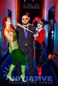 Poson, Harley and Hugo (Erin Lei, Ezmerelda Von Katz, Iggy Michniacki) at Arkham Assylum