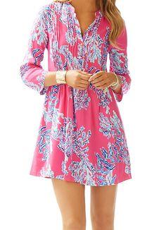 Lilly Pulitzer Sarasota Pintuck Tunic Dress in Samba