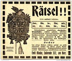 Original-Werbung/ Anzeige 1912 - JOCKELE-WANDUHR / EMIL KLUCKE - SUDERODE IM HARZ - ca. 90 x 75 mm