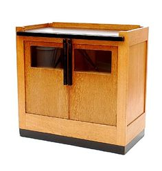 Small slavonian oak Haagse School cabinet with blackened wooden accents designer Jan den Drijver 1929 executed for Woninginrichting de Stijl / Den Haag