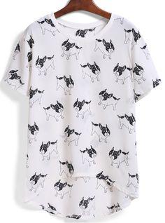 camiseta dip hem perro-blanco 8.54