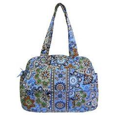 Vera Bradley baby bag in Bali blue