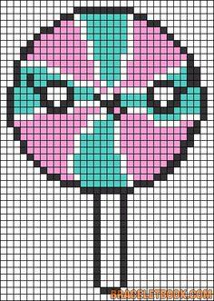 Lollipop perler bead pattern