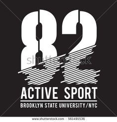 Brooklyn sport typography, tee shirt, graphics, vectors