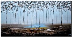 Modern landscape paintings on canvas. The Silver Forest is a hand-painted artwork, created by the artist Osnat Tzadok. An online art gallery of modern paintings - artwork id Blooming Trees, Modern Landscaping, Online Art Gallery, Landscape Paintings, Abstract Art, Fine Art, Contemporary, Canvas, Silver