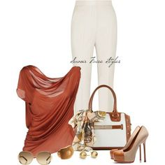 """Saint Laurent Pumps & Handbag w/ a Scarf"" by tara-akiri on Polyvore"
